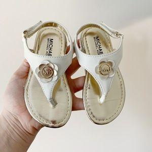 Michael Kors White Toddler Sandals